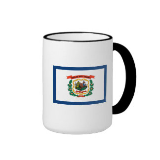 West Virginia State Flag Ringer Mug