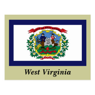 West Virginia State Flag Postcard