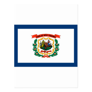 West Virginia State Flag Postcards