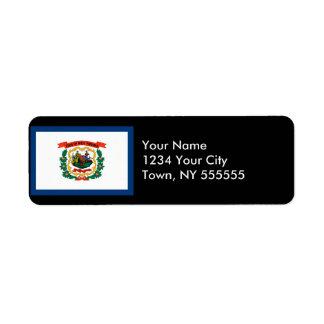 West Virginia State Flag Return Address Label