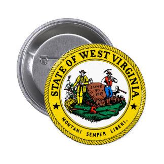 West Virginia state flag seal united america count 6 Cm Round Badge