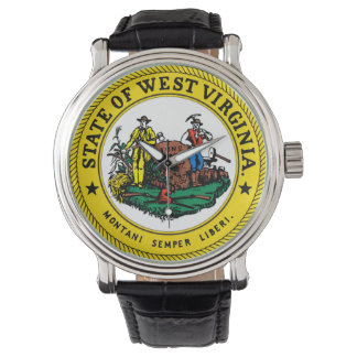 West Virginia state flag seal united america count Wristwatches