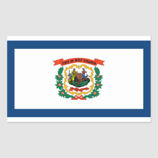 West Virginia State flag Rectangular Sticker