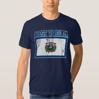West Virginia State Flag T-Shirt (Distressed)
