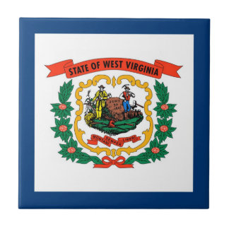 West Virginia State Flag Ceramic Tile