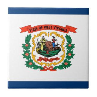 West Virginia State Flag Ceramic Tiles