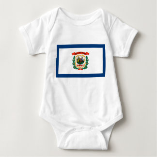west virginia state flag united america republic s baby bodysuit