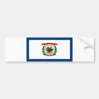 west virginia state flag united america republic s bumper sticker