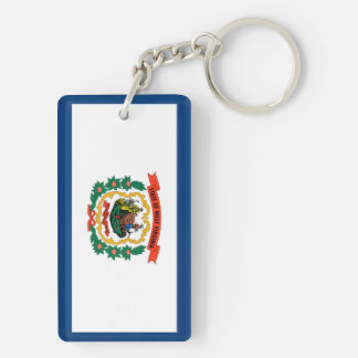 west virginia state flag united america republic s Double-Sided rectangular acrylic key ring