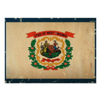 West Virginia State Flag VINTAGE Announcement