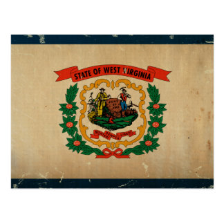 West Virginia State Flag VINTAGE Postcard