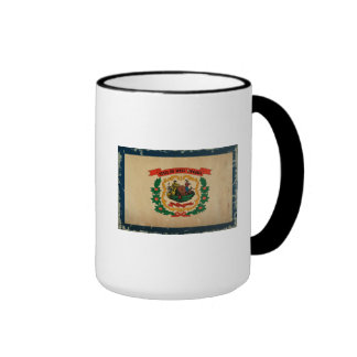 West Virginia State Flag VINTAGE Ringer Mug