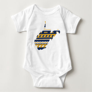 West Virginia State Pride Baby Bodysuit
