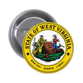 West Virginia state seal.jpg 6 Cm Round Badge