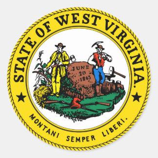West Virginia state seal.jpg Round Sticker