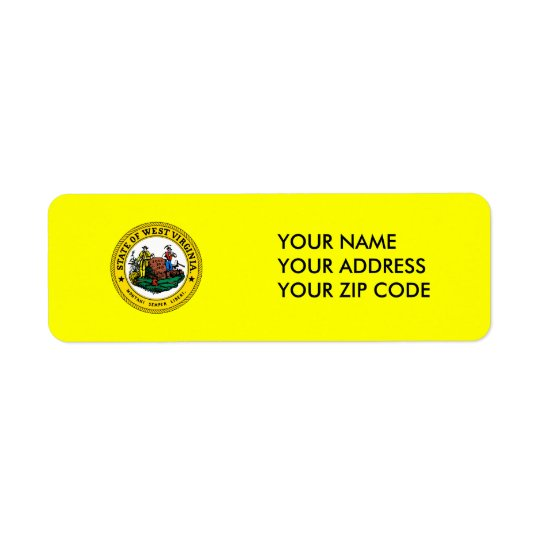 West Virginia State Seal Return Address Label