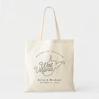 West Virginia State Wedding Welcome Tote Bag