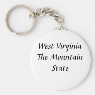 West Virginia The Mountain State Key Ring
