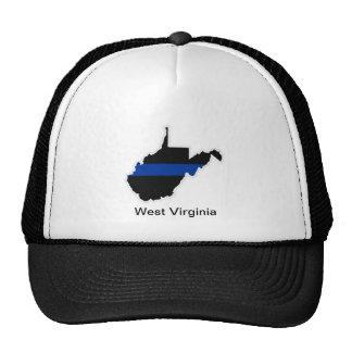 West Virginia Thin Blue Line Trucker Hat