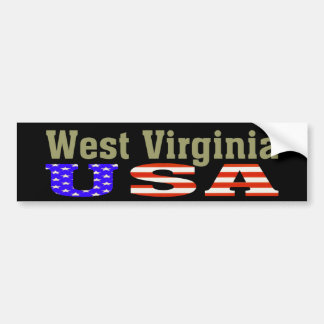 West Virginia USA! Bumper Sticker