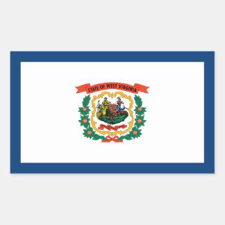 West Virginia/Virginian State Flag, United States Rectangular Sticker