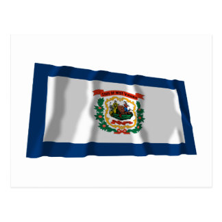 West Virginia Waving Flag Post Card