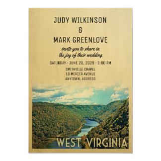West Virginia Wedding Invitation Nature River