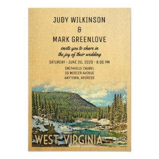 West Virginia Wedding Invitation Vintage Nature