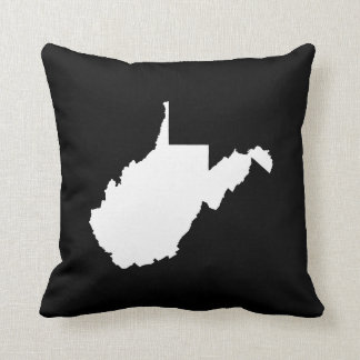 West Virginia White and Black Cushion