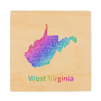 West Virginia Wood Coaster