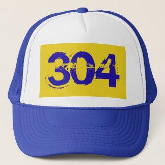 West Virginia WV  304 Trucker Cap Hat