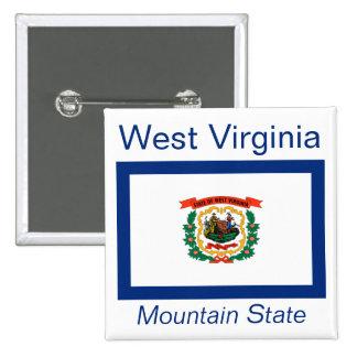 West Virginian Flag Button