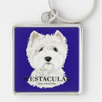 Westacular West Highland White Terrier! Key Ring