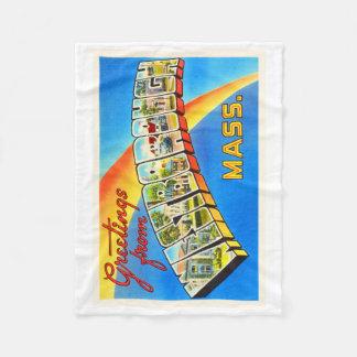 Westborough Massachusetts MA Old Travel Souvenir Fleece Blanket