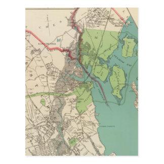 Westchester, Pelham towns Postcard
