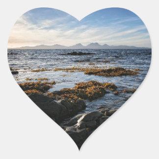 Westcoast of Scotland, Isle of Jura Heart Sticker