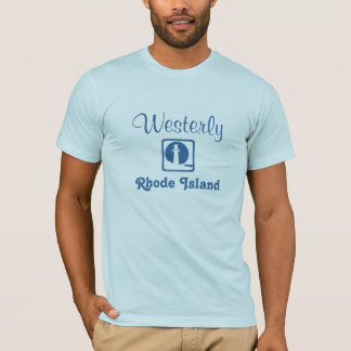 Westerly, Rhode Island light blue shirt