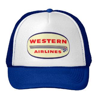 Western Airlines vintage logo Mesh Hats