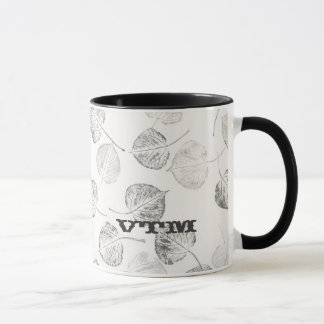 Western Aspen Leaves Monogram Mug