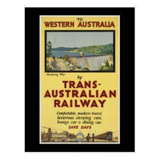 Western Australia by Trans-Australian Railway Postcard