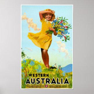 Western Australia Restored Vintage Travel Poster