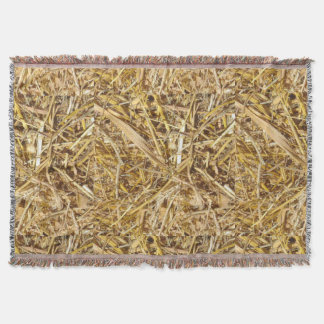 Western Bale Of Hay Print Throw Blanket