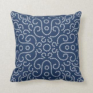Western Bandana Dot Pattern Navy Cushion