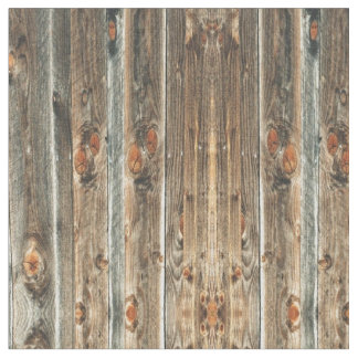 Western Barn Wood Print #2 Fabric