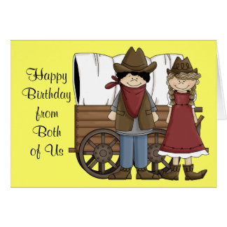 Western Birthday Wishes from Both Card