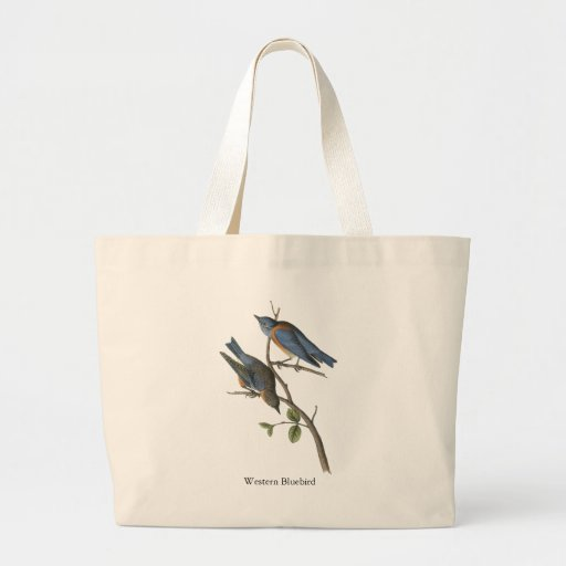 Western Bluebird, John Audubon Canvas Bag