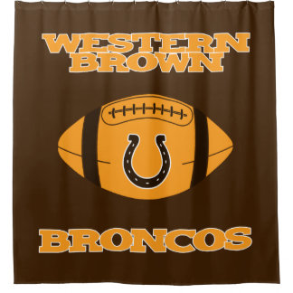 WESTERN BROWN BRONCOS HIGHSCHOOL OHIO SHOWER CURTAIN
