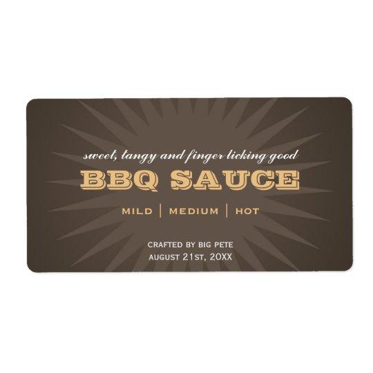 Western brown star burst kitchen sticker labels