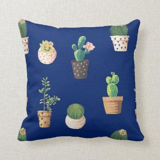 Western Cactus Pattern Throw Pillow