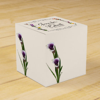 Western Calla Lily Posh Wedding Favor Box Wedding Favour Boxes